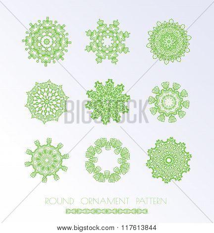 Green mandala set