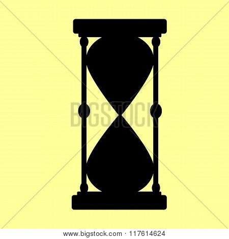 Hourglass sign. Flat style icon