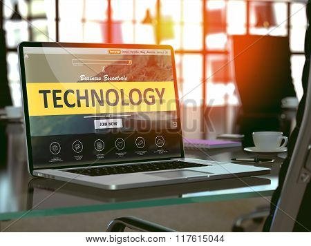 Technology Concept on Laptop Screen.