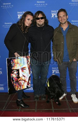 SANTA BARBARA - FEB 9: Lara Firestone, John Bramlitt, Ryan Pettey the Montecito Award at the Arlington Theatre - 31st Santa Barbara International Film Festival on February 9, 2016 in Santa Barbara, CA