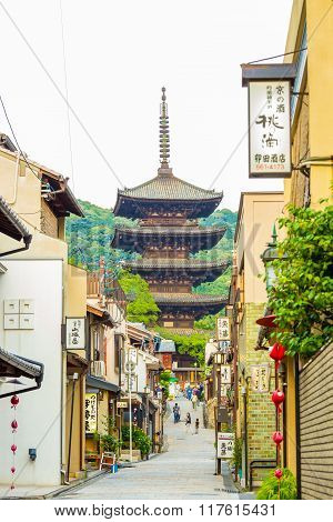 Yasaka No To Pagoda Front Street Stores Overcast