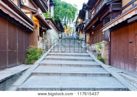 Stone Steps Leading Up Sannen-zaka Street Shops