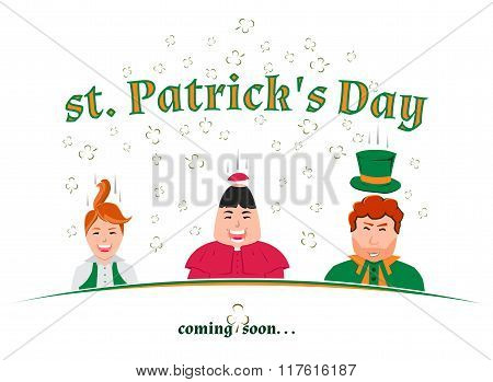 St. Patrick's Day Coming Soon..., Vector Illustration