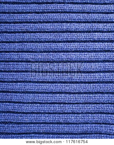 Blue Knitted Fabric Texture, Background