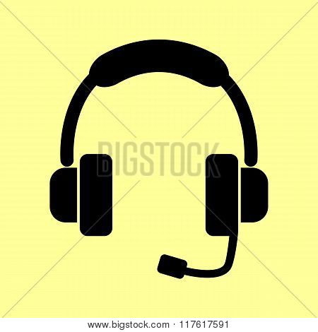 Headset. Support sign.