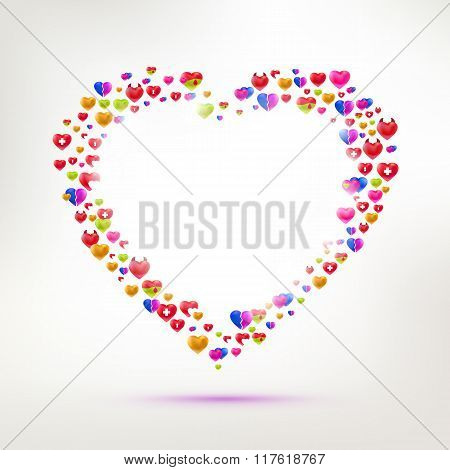 Different types of Love symbol