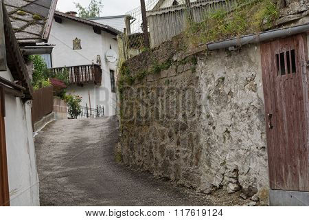 Narrow Lane In A Village
