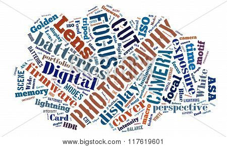 Word Cloud Around Photography