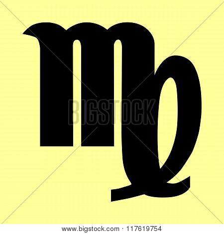 Virgo sign. Flat style icon