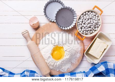 Ingredients  And Utensil For Making  Dough
