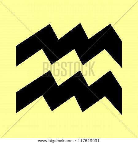 Aquarius sign. Flat style icon