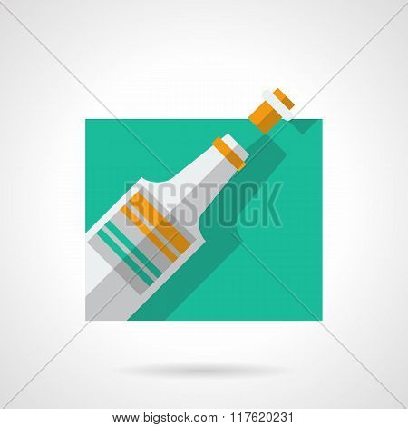 Champagne flat color vector icon