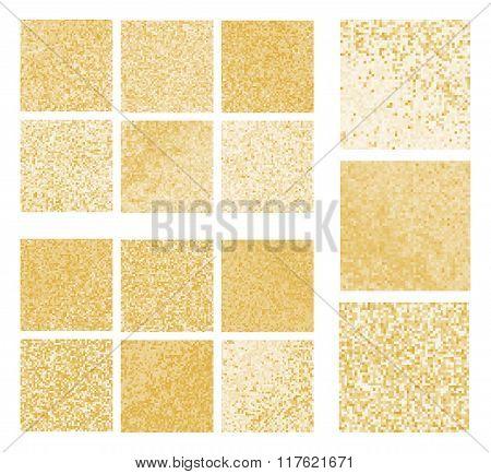 Mustard mosaic set.