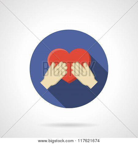 Love proposal colorful round flat vector icon