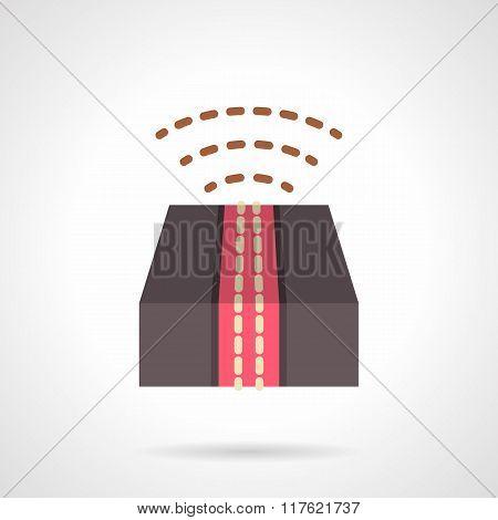 Internet delivery flat color vector icon