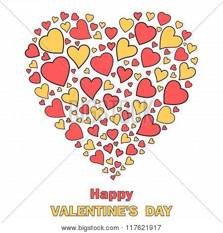Hearts making a heart shape