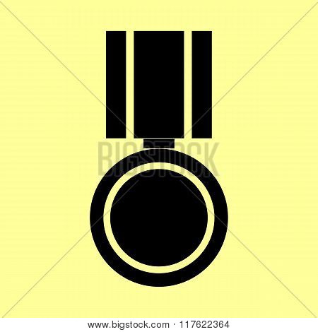 Medal sign. Flat style icon