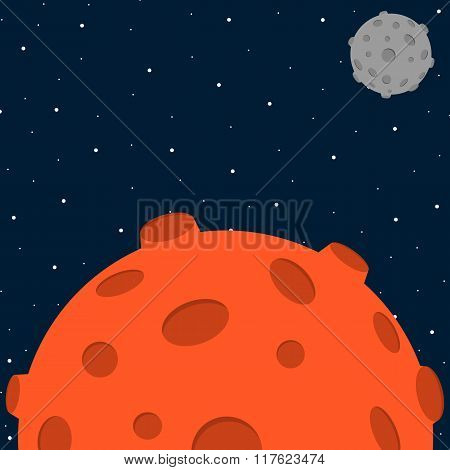 Cartoon style space background