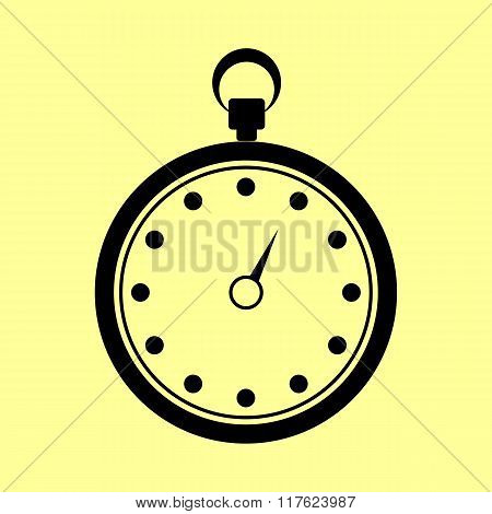 Stopwatch sign. Flat style icon