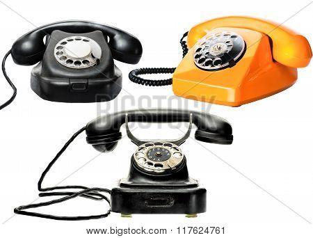 Vintage Phones Set