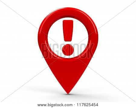 Red Map Pointer Attention