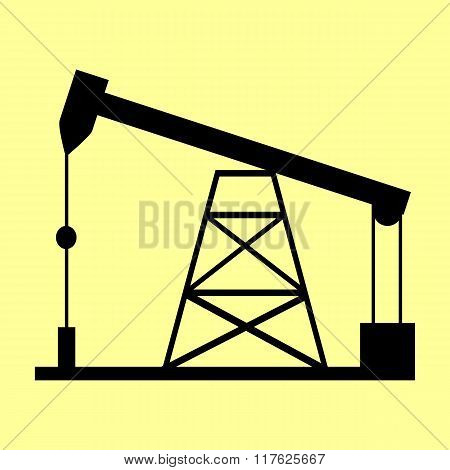 Oil drilling rig sign