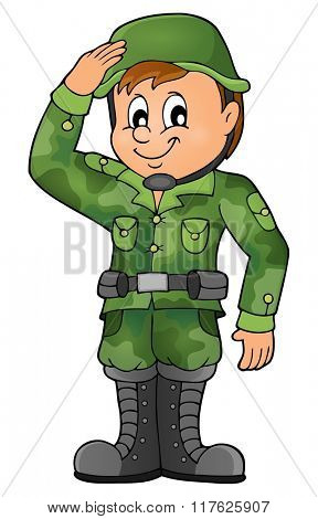Male soldier theme image 1 - eps10 vector illustration.