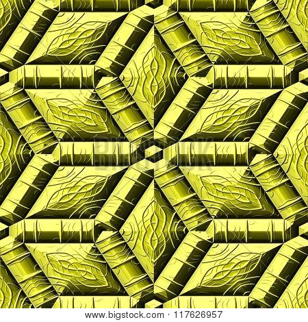Abstract decorative iron yellow texture-pattern