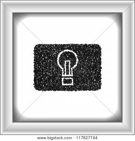 Simple Doodle Of A Light Button