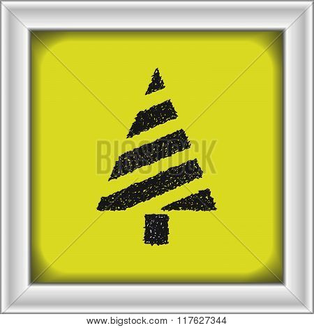 Simple Doodle Of A Christmas Tree