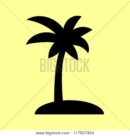 Coconut palm tree sign