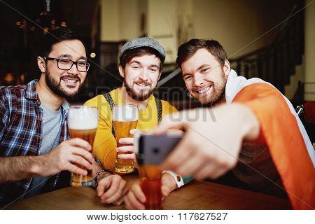 Selfie in pub