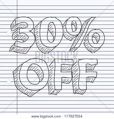 Simple Doodle Of Sale Tag Design