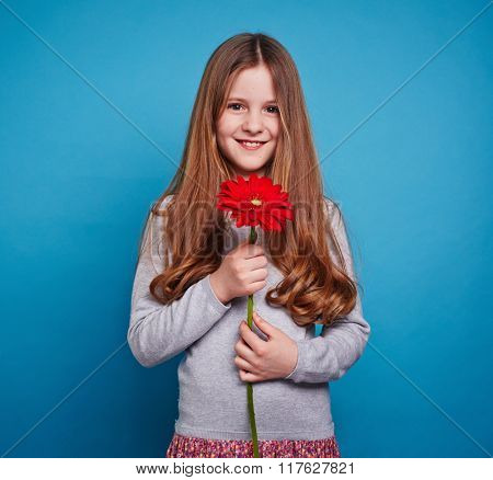 Girl with gerbera
