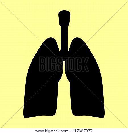 Human organs. Lungs sign