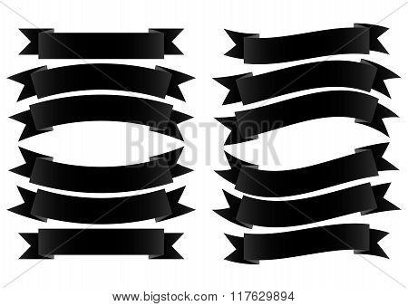 Ribbon Banner Black