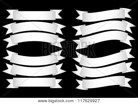 Ribbon Banner White