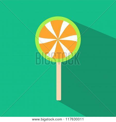 Lollipop candy flat design