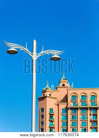 Lighting Pole Near Atlantis, The Palm Resort In Dubai