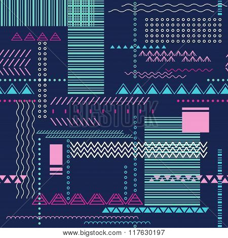Abstract seamless techno pattern