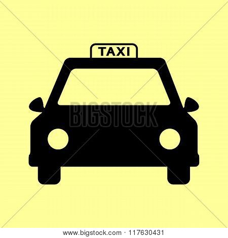 Taxi sign. Flat style icon