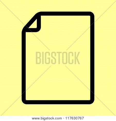 Document  sign. Flat style icon