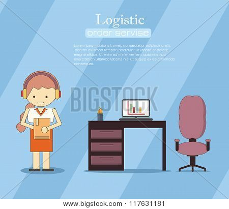 Warehousing and Logistic and Delivery banners vector set. Logistic infogaphic set with transport system delivery process vector illustration