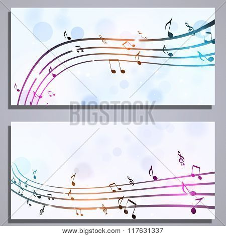 Music Notes Banners