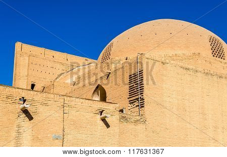 Walls Of Shah Mosque In Isfahan, Iran