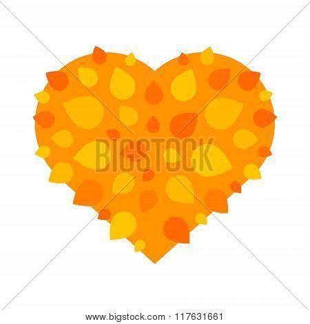Autumn love heart symbol