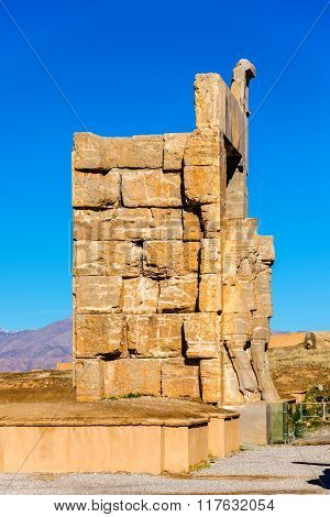 Details Of The Gate Of All Nations In Persepolis - Iran