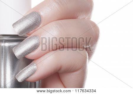 Silver nails.