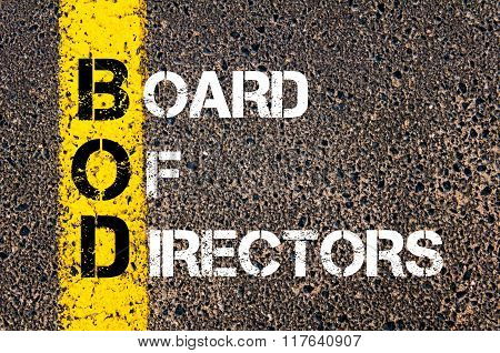 Business Acronym Bod Board Of Directors