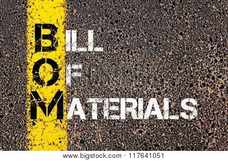Business Acronym Bom Bill Of Materials